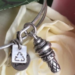 Alex & Ani Jewelry - Alex and Ani Sweet Treats Silver Charm Bangle